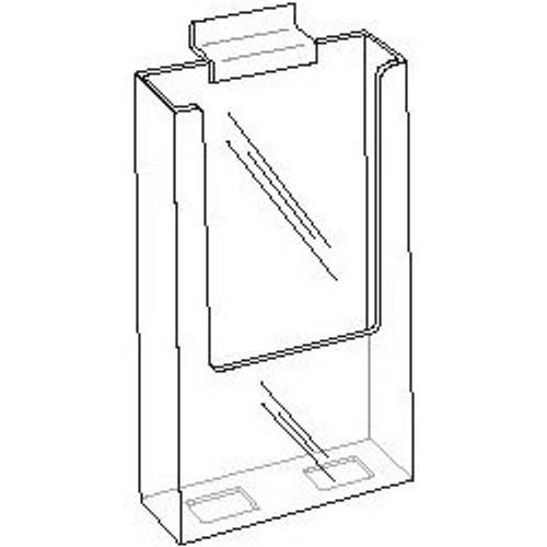 4x9 Clear Acrylic Slatwall Brochure Holder Diagram
