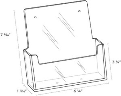 6x8 Half Sheet Wall Mount Brochure Holder Diagram