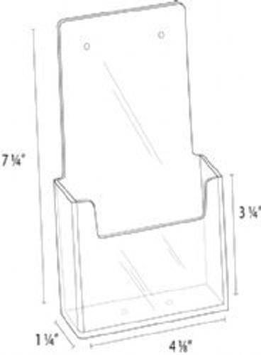 4x9 Angled Wall Mount Brochure Holder Diagram