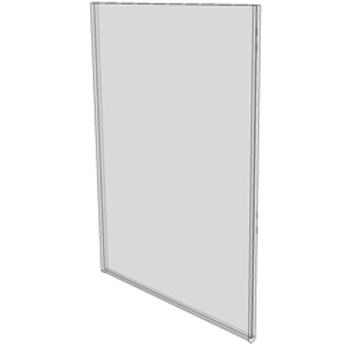 8.5x11 Wall Mount Sign Holder No Holes Diagram
