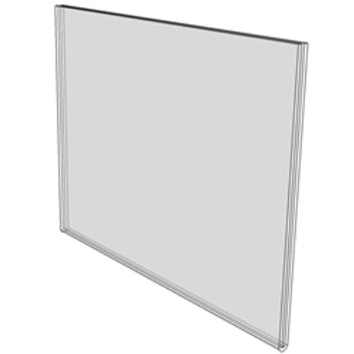 11x8.5 Wall Mount Sign Holder No Holes Diagram