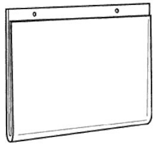17x11 Wall Mount Sign Holder with Holes Diagram
