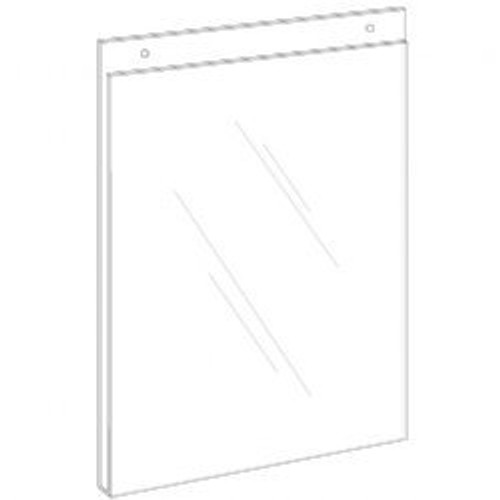 4x6 Wall Mount Sign Holder with Holes Diagram