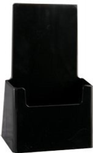 4x7 Tri-fold Black Brochure Holder