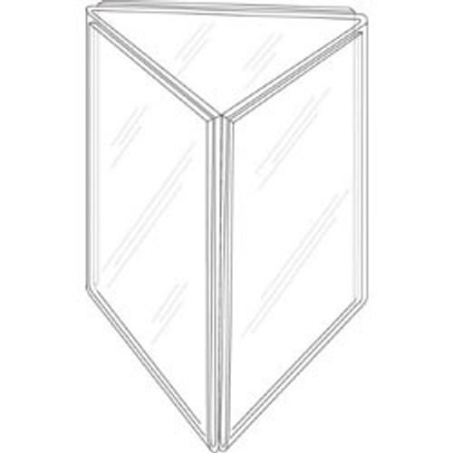 8.5x11 Three-Panel Sign Holder Diagram