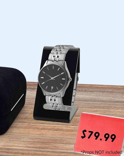 Black Acrylic Plastic Watch Stand Display