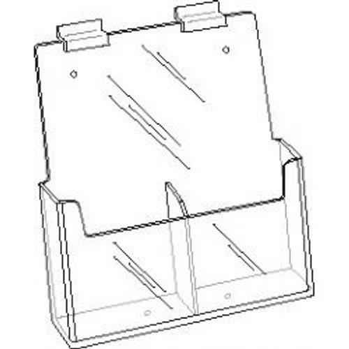 4x9 Clear Acrylic Slatwall 2-Pocket Brochure Holder   DS-LHW-Z131