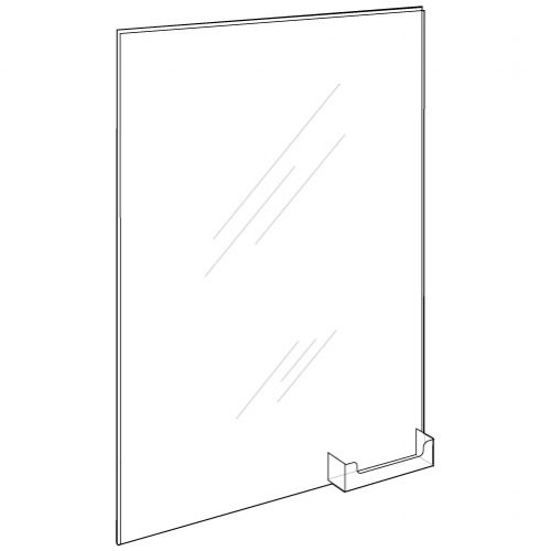 11x17 Wall Mount Sign Holder with BC Pocket