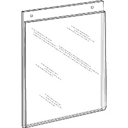 8.5x11 Portrait Wall Mount Sign Holder With Holes