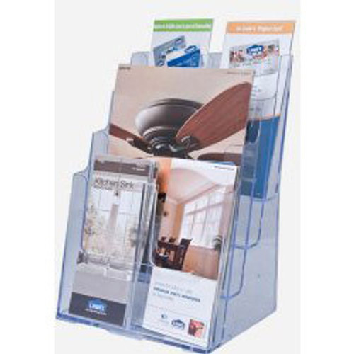 8.5x11 Full Page 4 Tier Brochure Holder