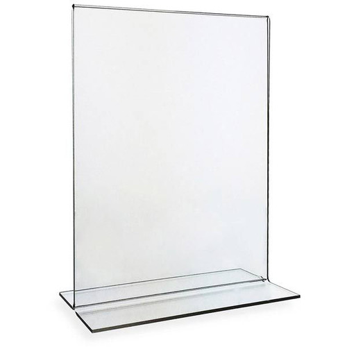 5x7 Bottom Load Sign Holder Portrait Style Countertop Display