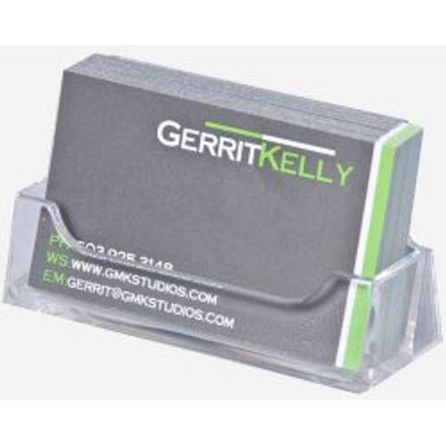 Clear Acrylic Horizontal Business Card Holder