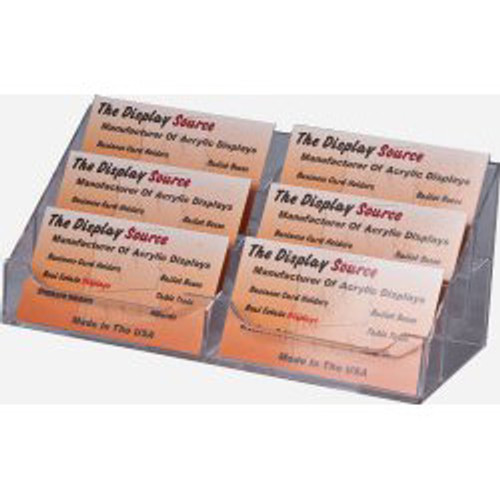 6 Pocket Clear Acrylic Business Card Holder