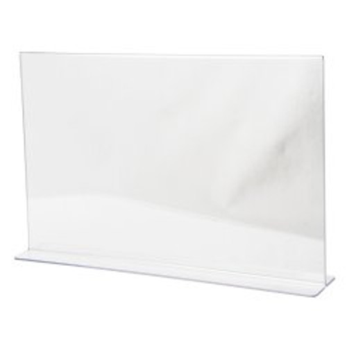 "LHC-1711E: 17""w x 11""h Clear Acrylic Table Tent"