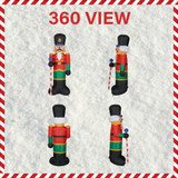 Fraser Hill Farm 10-Ft Tall Traditional Nutcracker, Blow Up Inflatable with Lights and Storage Bag