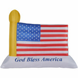 Fraser Hill Farm 10-Ft Wide American Flag, Blow Up Inflatable with Lights and Storage Bag