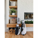 Fraser Hill Farm 3-Piece Furry Penguin Family with Glitter Scarves 24-In, 18-In, and 12-In, Festive Indoor Christmas Decoration