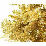 Fraser Hill Farm Gold Festive Tinsel Christmas Tree, Various Sizes and Lighting Options