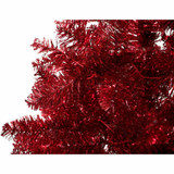 Fraser Hill Farm Red Festive Tinsel Christmas Tree, Various Lighting and Size Options