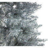 Fraser Hill Farm Silver Festive Tinsel Christmas Tree, Various Sizing and Lighting Options