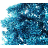 Fraser Hill Farm Turquoise Festive Tinsel Christmas Tree, Various Sizes and Lighting Options