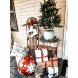 Fraser Hill Farm Set of 2 , Porch Accent Tree in Rustic Farmhouse Metal Jug, various Size and Lighting Options