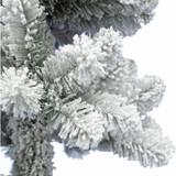 Fraser Hill Farm Set of 2, Snowy Spiral Porch Tree in Metal Base, Various Lighting and Size Options
