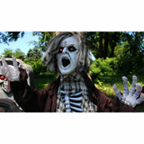 Haunted Hill Farm Life-Size Animatronic Zombie with Flashing Eyes and Sounds