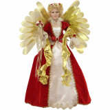 Fraser Hill Farm 32-In Christmas Angel Figurine with Music, Lights, and Motion - Animated Indoor Holiday Home Decor