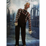 Haunted Hill Farm Life-Size Animatronic Zombie with Red Flashing Eyes and Moaning Sounds
