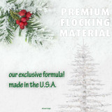 Fraser Hill Farm 7.5 Ft Arctic Pine Artificial Christmas Tree with Clear Smart String Lighting