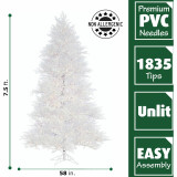 Fraser Hill Farm 7.5 Ft Snowy Alpine Artificial Christmas Tree