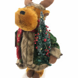Fraser Hill Farm 24-In Reindeer Figurine with Lighted Pine Tree, Animation, and Music 8 Songs - Christmas Holiday Decoration