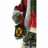 Fraser Hill Farm 24-In Reindeer Figurine with Lighted Lantern, Snowshoes, Animation and Music 8 Songs - Christmas Holiday Decoration