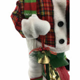 Fraser Hill Farm 36-In Battery-Operated Bike-Riding Snowman with Gift Sack, Animation, and Music 1 Song - Christmas Holiday Decoration