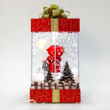 Fraser Hill Farm Let It Snow Series 12-In Christmas Gift Shadowbox with Santa Scene, Animated Musical Snow Decoration
