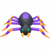 Haunted Hill Farm 8-ft Inflatable Spider with Lights, HHFINSPIDER08-1L