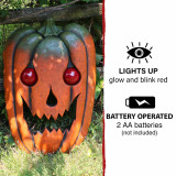 Haunted Hill Farm Haunted Hill Farm 2.5-ft Pumpkin Head with Glowing Red Eyes, Battery Operated Halloween Decoration for Indoor/Covered Outdoor Display, HHDHPUMP-1HS