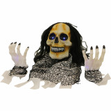 Haunted Hill Farm Haunted Hill Farm 3.25-ft Groundbreaker Skeleton, Indoor/Covered Outdoor Halloween Decoration, Blue LED Lights, Battery-Operated, Blair, HHFJBRDE-2S