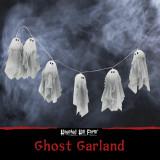 Haunted Hill Farm Haunted Hill Farm 4.4-ft Light Up Ghost Garland, Halloween Decoration, HHGARGHST-2S
