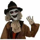 Haunted Hill Farm Haunted Hill Farm 5.25-ft Animatronic Gravekeeper, Indoor/Outdoor Halloween Decor, Red LED Eyes, Poseable, Battery-Operated, Jebediah Bones, HHGRVKPR-1FLSA