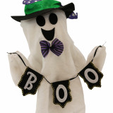 Haunted Hill Farm Haunted Hill Farm 1.25-ft Musical Walking Ghost with Banner, Indoor/Outdoor Halloween Decoration, Battery-Operated, Billy, HHMNGHST-1FSA
