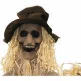 Haunted Hill Farm Haunted Hill Farm 5.9-ft Standing Scarecrow, Indoor/Covered Outdoor Halloween Decoration, Poseable, The Hunter, HHSCR-7F