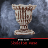 Haunted Hill Farm Haunted Hill Farm 9.5-In Skeleton Vase Halloween Decoration for Indoor/Covered Outdoor Displays, HHSKELVASE-1