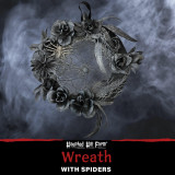 Haunted Hill Farm Haunted Hill Farm 1.42-ft Halloween Wreath with Spiders, Indoor/Covered Outdoor Halloween Decoration, HHWTHSPD-1