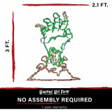 Haunted Hill Farm Haunted Hill Farm Halloween Indoor/Outdoor Zombie Hand LED Light 26 in x 36 in, FFHELED036-ZMB0-GRN