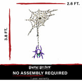 Haunted Hill Farm Haunted Hill Farm Halloween Indoor/Outdoor Spider Dangling from Web LED Light 32 in x 45 in, FFHELED045-SPD0-MLT