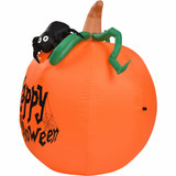 Haunted Hill Farm Haunted Hill Farm 3-Ft Inflatable Pre-Lit Pumpkin Happy Halloween Sign, HIPUMPKIN031-L