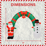 Fraser Hill Farm Fraser Hill Farm 8-Ft Tall Walkway Arch w/ Santa Claus and Snowman, Outdoor Blow-Up Christmas Inflatable w/ Lights and Storage Bag, FHFXMASARCH081-L