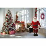Fraser Hill Farm Fraser Hill Farm 58-In Musical Santa Claus Holding a Chalkboard - Christmas Holiday Indoor Decoration, FSC058-1RD1